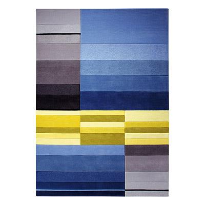 tapis en jean belt bleu carving 140x200. Black Bedroom Furniture Sets. Home Design Ideas