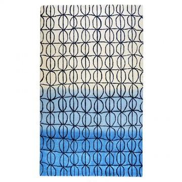 tapis hartford bleu the rug republic tufté main