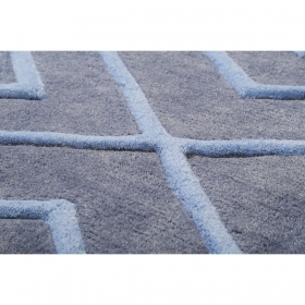 tapis evening shade v. flip bleu - esprit home