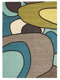 tapis comic estella bleu et vert - brink&campaman