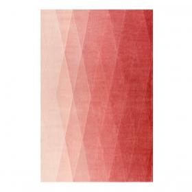 tapis evening shade haux rose et rouge - esprit home