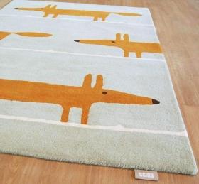 tapis mr fox aqua scion living - avalnico