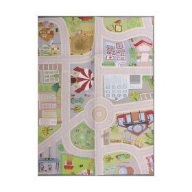 tapis enfant multicolore city road play mat flair rugs