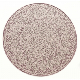 tapis rond crochet rose - art for kids