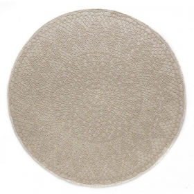 tapis rond crochet blanc beige - art for kids
