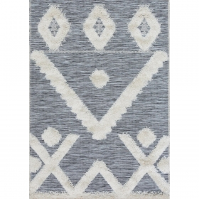 tapis tibal gris et blanc - art for kids