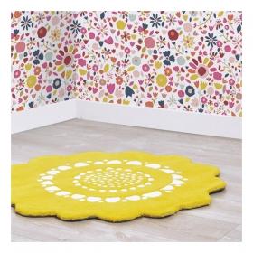 tapis enfant jaune et orange. Black Bedroom Furniture Sets. Home Design Ideas