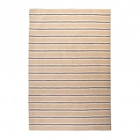 tapis en laine tissé main beige the rug republic alvin