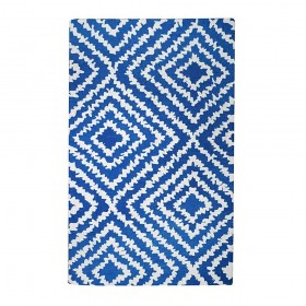 tapis tufté main banha bleu the rug republic