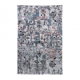 tapis noué main bayswater gris the rug republic