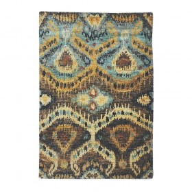 tapis noué main marron the rug republic britanny