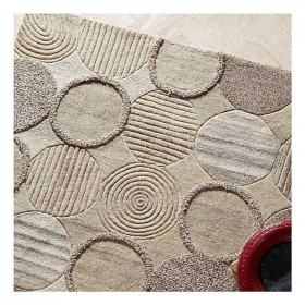 tapis en laine beige tufté main cameron the rug republic