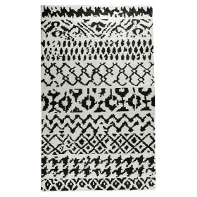 tapis tufté main clarton noir the rug republic
