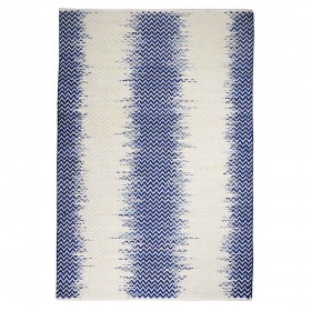 tapis tissé main fenton bleu the rug republic