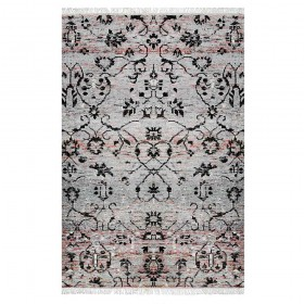 tapis noué main grace gris the rug republic