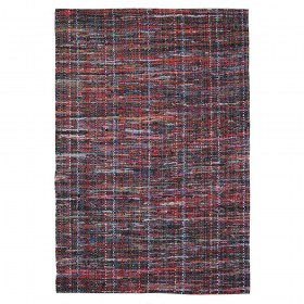 tapis tissé main harris rouge the rug republic