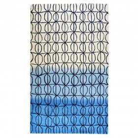 tapis hartford bleu the rug republic tufté main