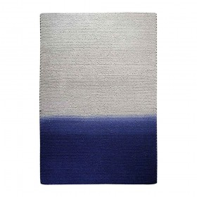 tapis kollam tissé main en laine bleu the rug republic
