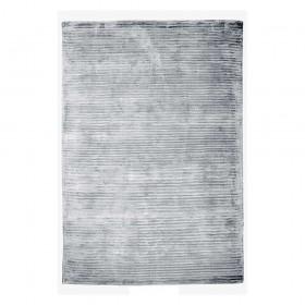 tapis en viscose tissé main logan gris the rug republic