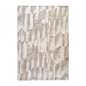 tapis en laine beige tissé main mallory the rug republic