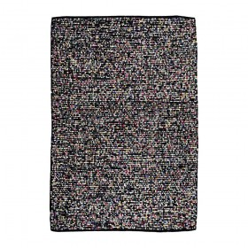 tapis tissé main the rug republic nova noir the rug republic