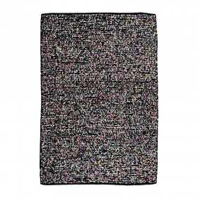 tapis nova noir the rug republic tissé main