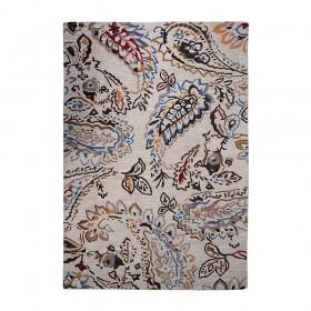 tapis tufté paisley beige the rug republic