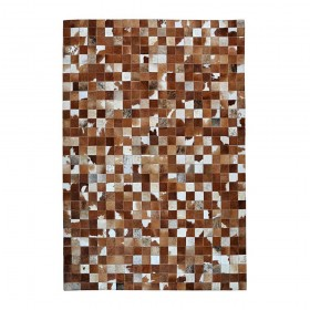 tapis en cuir fait main presidio marron the rug republic