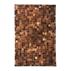 tapis en cuir fait main promenade marron the rug republic