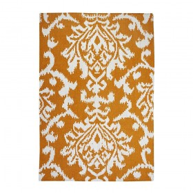 tapis kilim fait main qrion jaune the rug republic