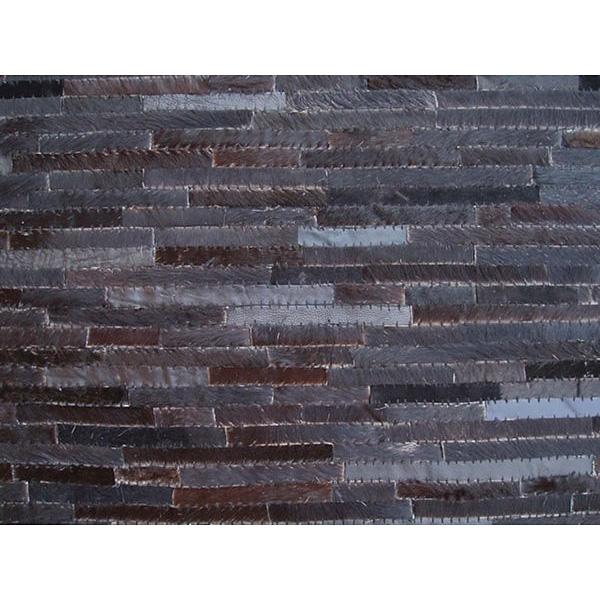 tapis moderne en cuir loft noir 160x230. Black Bedroom Furniture Sets. Home Design Ideas