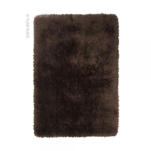 Tapis shaggy chocolat : acheter un tapis marron Esprit HOME