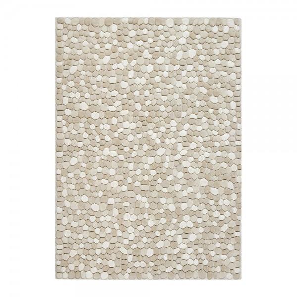tapis laine tuft main ivoire vitalize ligne pure 140x200. Black Bedroom Furniture Sets. Home Design Ideas