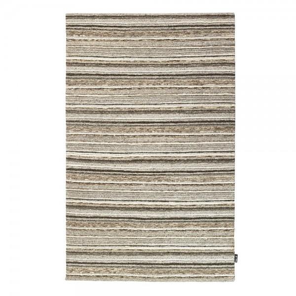 Tapis en laine ray beige 422 loook 140x200 for Tapis raye noir beige