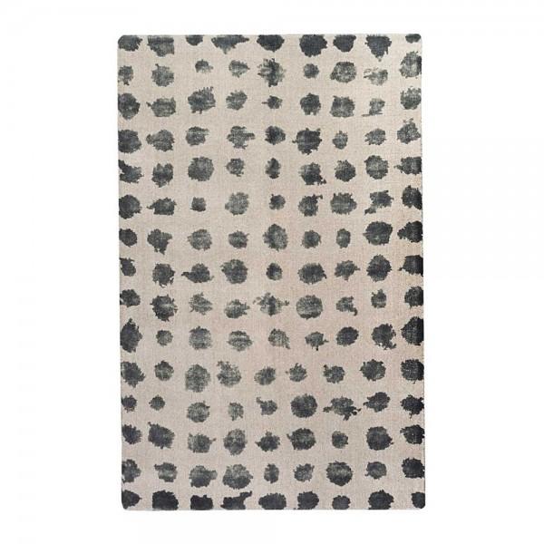 tapis tiss main roxen gris et encre the rug republic. Black Bedroom Furniture Sets. Home Design Ideas