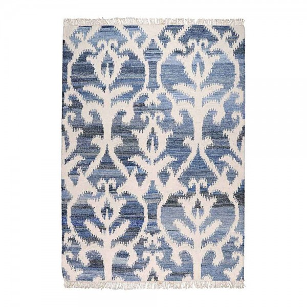 tapis kilim fait main vivian bleu the rug republic 160x230. Black Bedroom Furniture Sets. Home Design Ideas