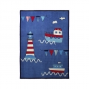 Tapis enfant Captains World bleu Esprit Home