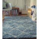Tapis enfant à poils longs Nomad bleu Art For Kids