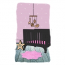 Tapis enfant LITTLE STELLA rose Nattiot