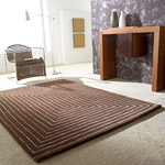 Tapis TRIDIMENSIONAL Carving marron en laine