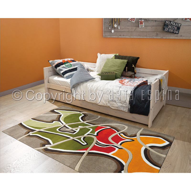 tapis ado mural motif graffiti arte espina tuft main 120x180. Black Bedroom Furniture Sets. Home Design Ideas