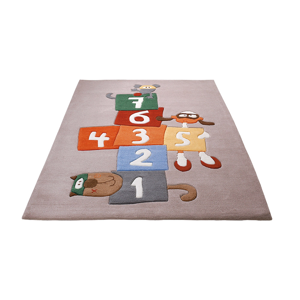tapis enfant multicolore sigikid bandidoleros jump 90x160. Black Bedroom Furniture Sets. Home Design Ideas