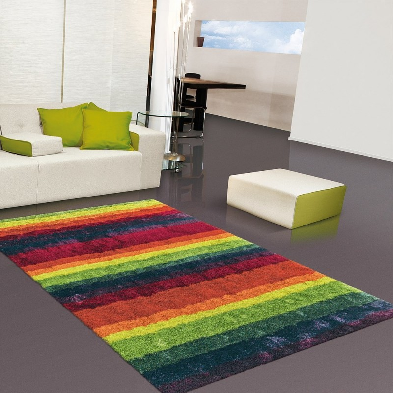 Tapis multicolore arte espina shaggy funky 90x160 - Tapis shaggy multicolore ...