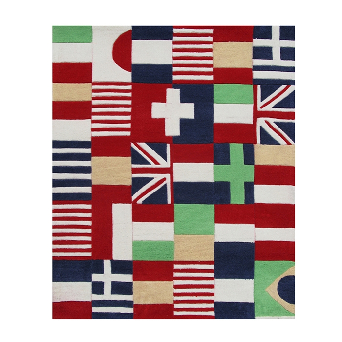 tapis enfant drapeaux rouge art for kids 120x140. Black Bedroom Furniture Sets. Home Design Ideas