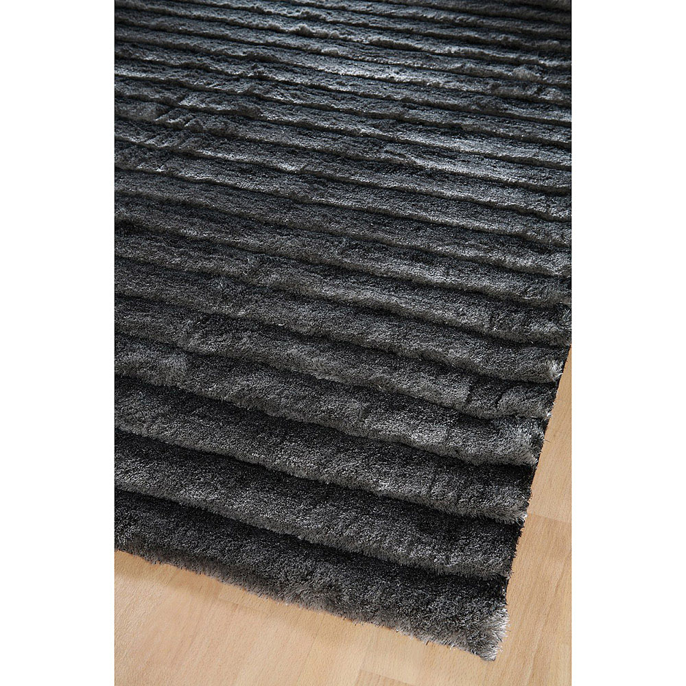 tapis shaggy gris fonc dune home spirit 200x300. Black Bedroom Furniture Sets. Home Design Ideas