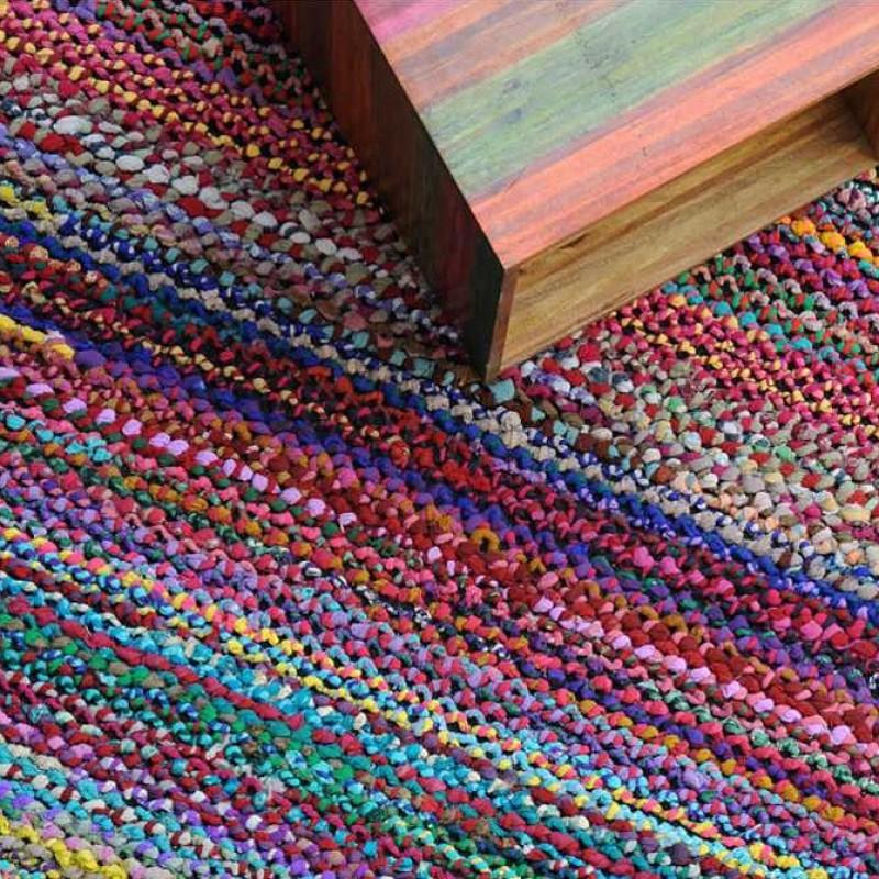 tapis tiss main elmund multicolore the rug republic 120x180. Black Bedroom Furniture Sets. Home Design Ideas
