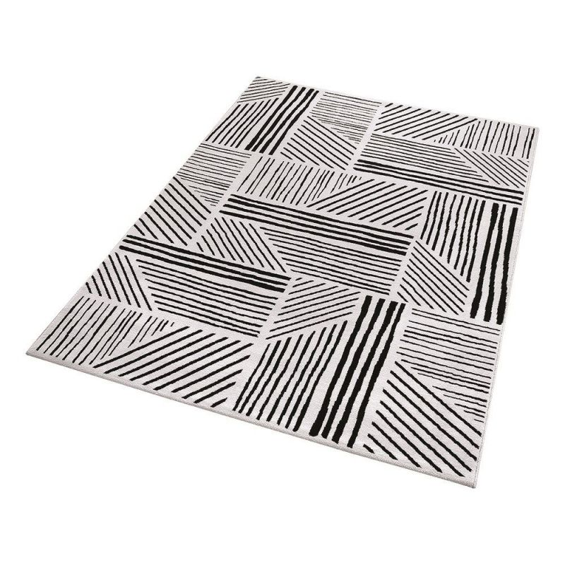 tapis moderne noir et blanc graphics 120x170. Black Bedroom Furniture Sets. Home Design Ideas