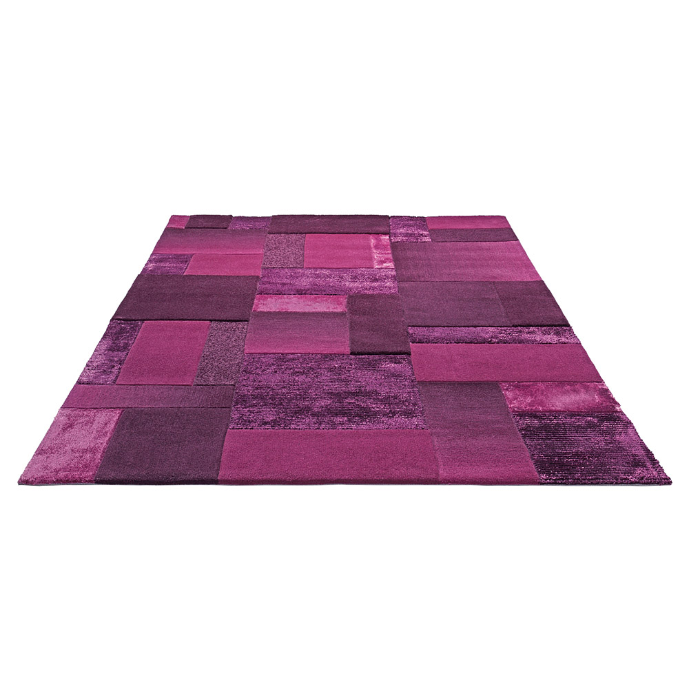 Tapis esprit home moderne patchwork violet 170x240 for Violet home
