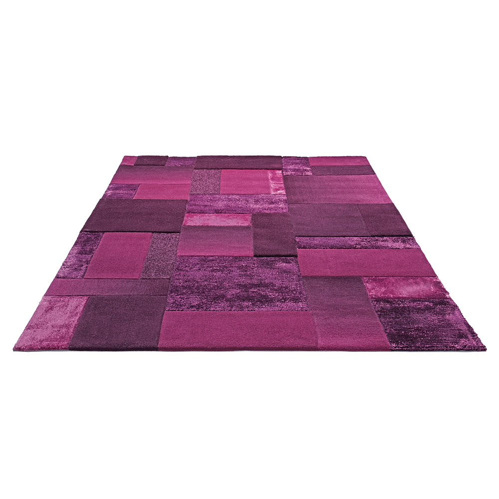 tapis patchwork violet esprit home. Black Bedroom Furniture Sets. Home Design Ideas