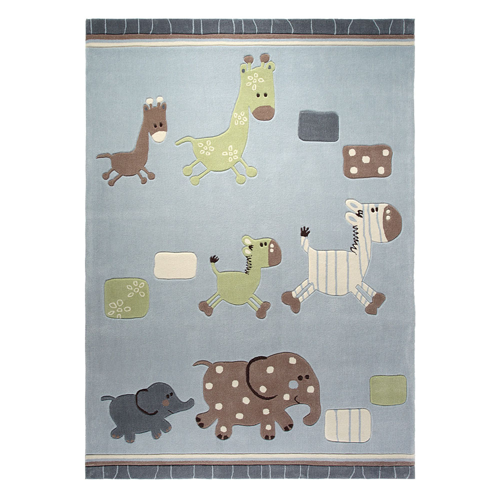 tapis enfant gris esprit home lucky zoo 140x200. Black Bedroom Furniture Sets. Home Design Ideas